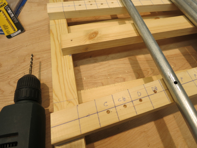 Drilling shallow marker holes