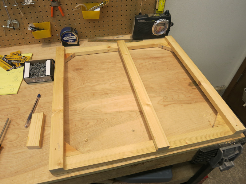 The starting point of a glockenspiel frame