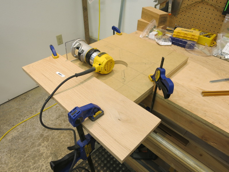 My clamped makeshift router fence