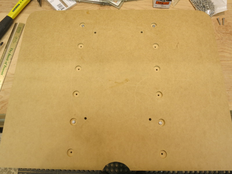 All the bolt holes and nut counterbores are cut