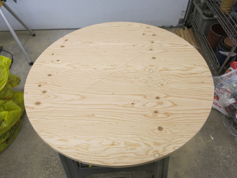 What a lovely circle of plywood