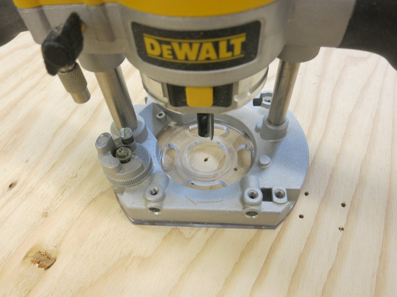 Counterboring the mounting holes