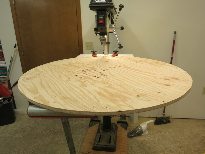 Counterboring holes to hold the nuts