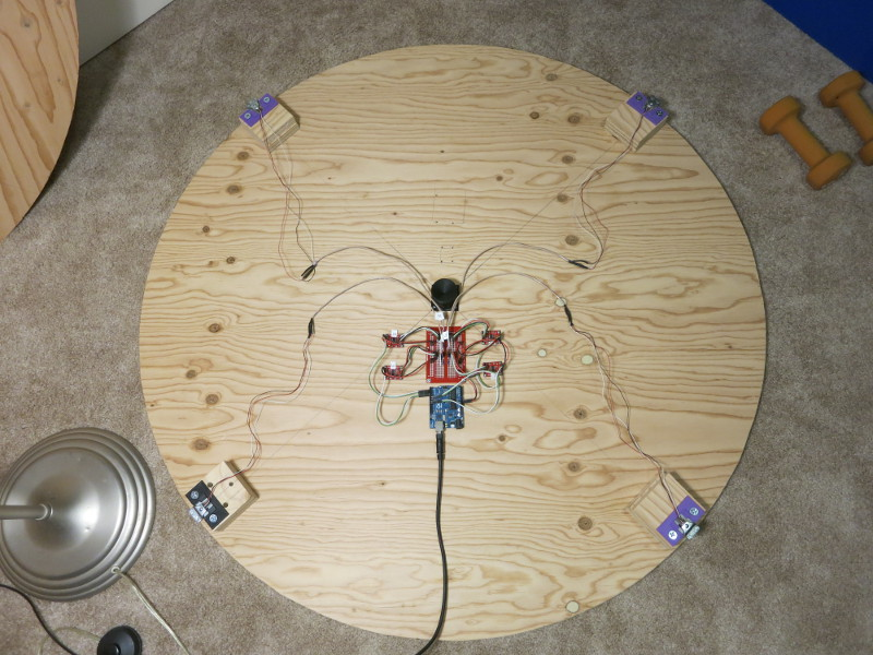 Top view of the assembled scale