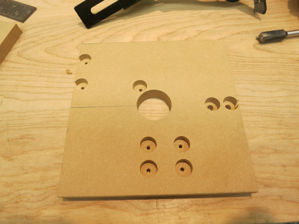 The correctly-drilled bottom plate