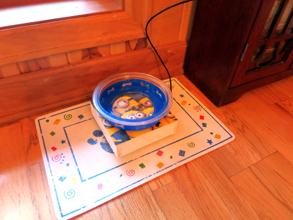 The installed scale – and yes, I used a Minions placemat on the top