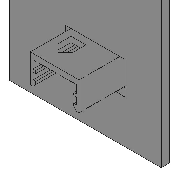 The finished clip in FreeCAD