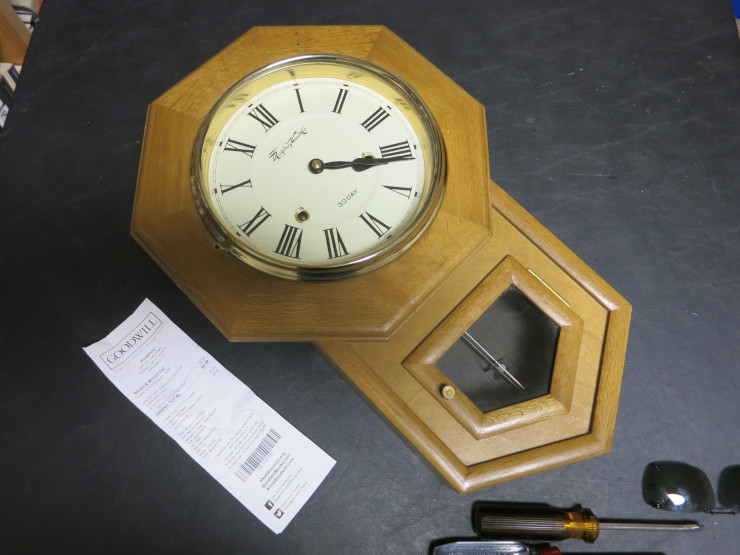 My first clock to repair