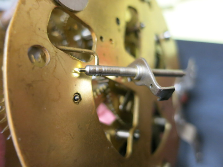Removing the escapement and crutch