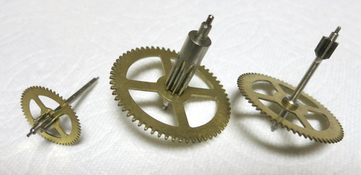 The three remaining gears