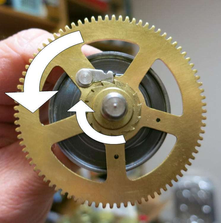 Winding and unwinding the mainspring