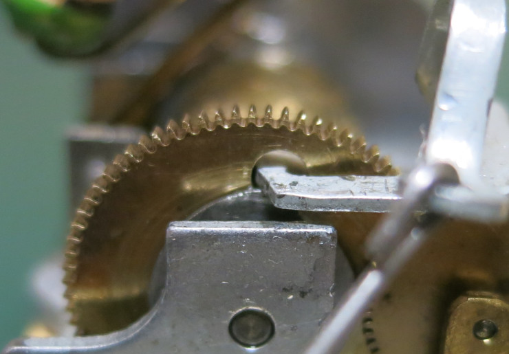 The locking lever in the locked position