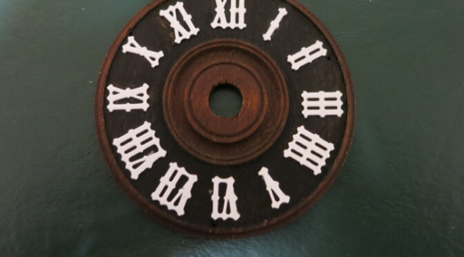 Replacing the Numbers on a Cuckoo Clock Dial