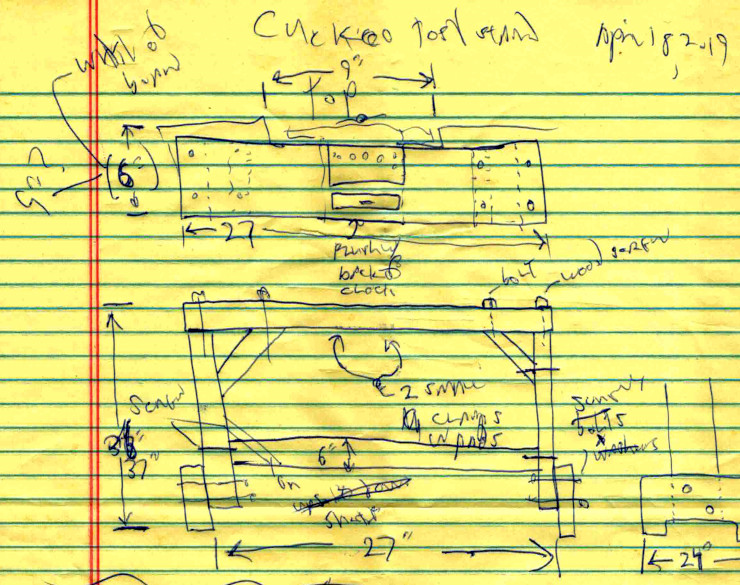 A pen-and-paper sketch of the design