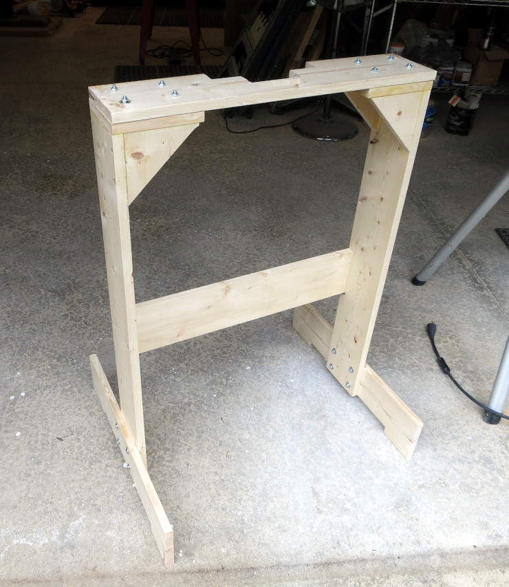 The completed frame, with replaceable custom top