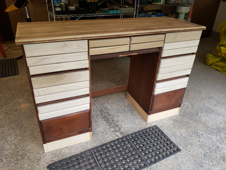 Drawers added and height increased