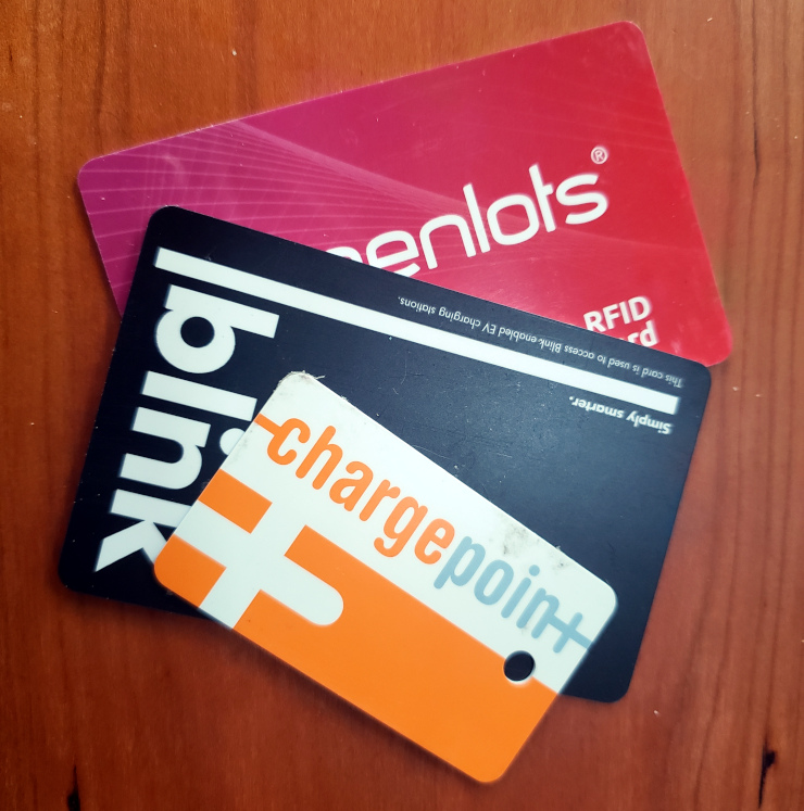 ChargePoint, Blink, and GreenLots RFID cards