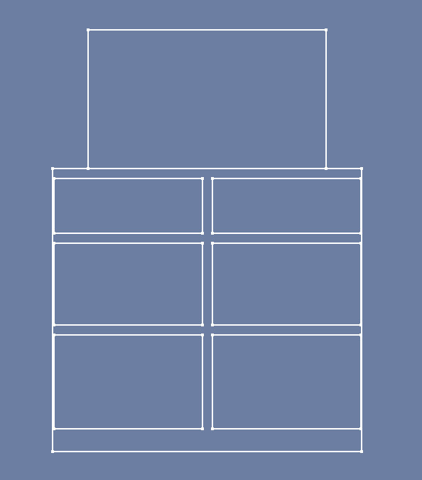 Rough sketch of the drawer layout