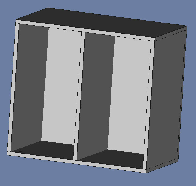 A basic cabinet, in FreeCAD