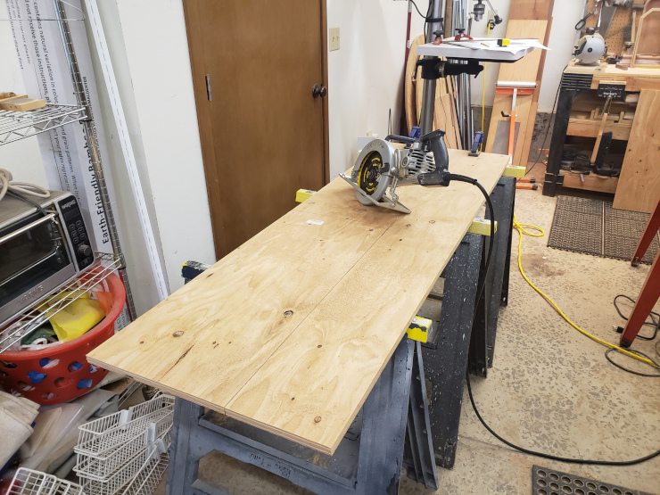 Cutting the boards, without a table saw