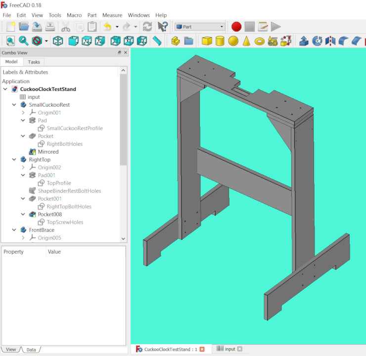 Stand design in FreeCAD