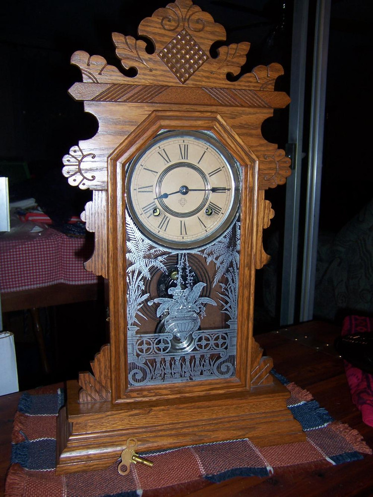 A well-preserved one of this model clock, from a posting on NAWCC.org