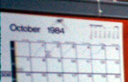 Yes, it's October 1984