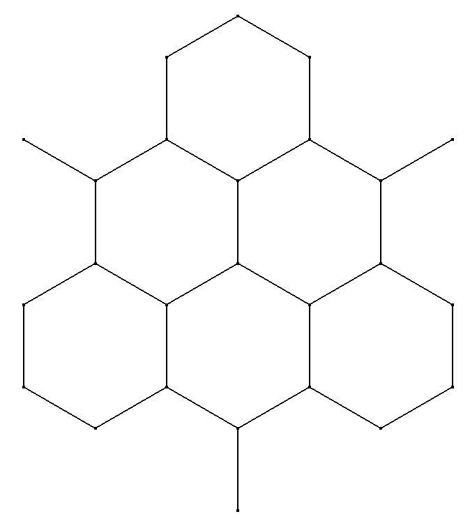 The underlying hexagonal pattern of the pegs