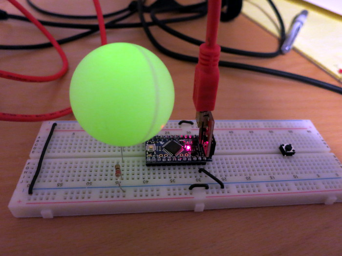 The glorious ping pong ball LED light diffuser