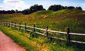 burial mounds near the Oslo Viking museum