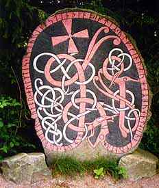 a re-painted rune stone