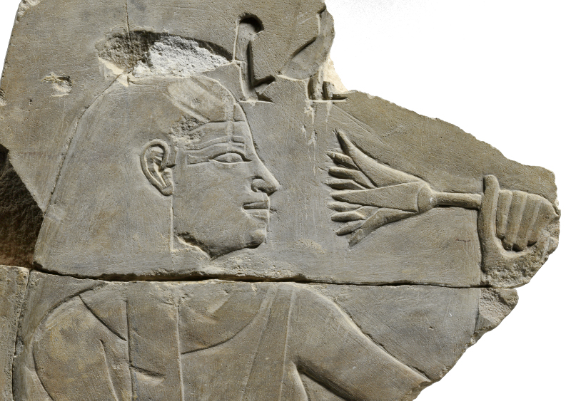 Mesu Smelling a Lotus (detail), ca. 1525-1504 BCE. From a public domain image courtesy ofThe Metropolitan Museum of Art