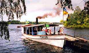 the historic steamer Thor