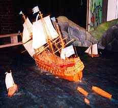 a model of the Vasa sinking