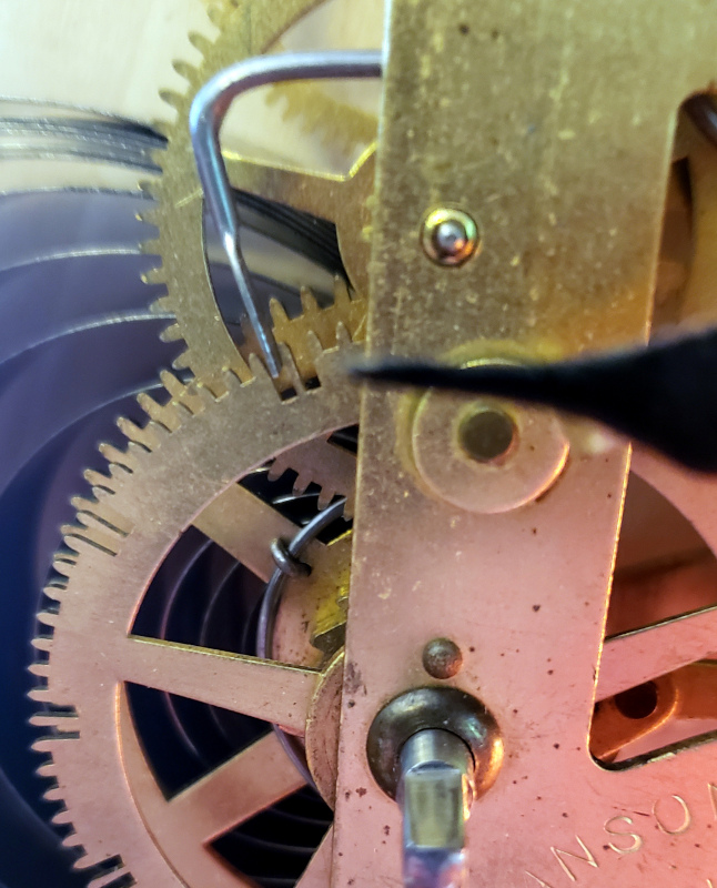 The adjusted count lever as it would be in a shallow count wheel slot