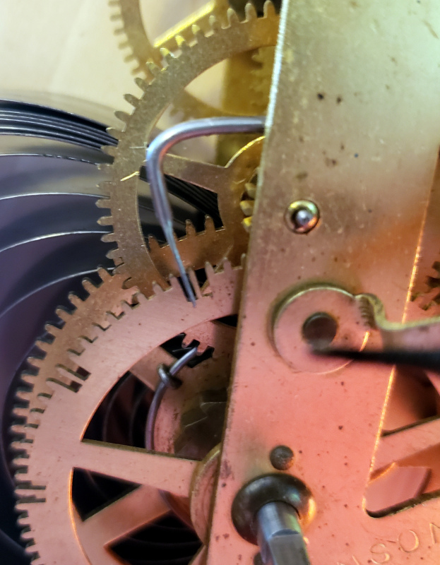 The adjusted count lever in a deep count wheel slot